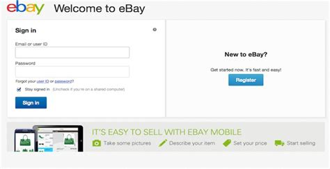 ebay login ebay login ebay com online auction and account
