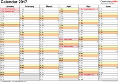 calendar 2017 (uk) 16 free printable word templates
