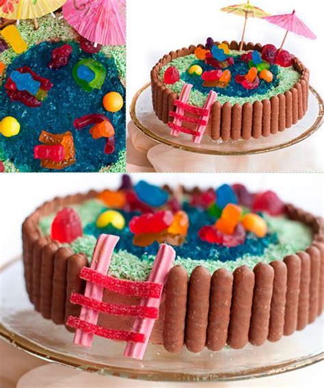 amazing  easy kids cakes swimming pool cake