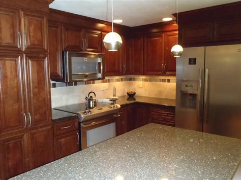 Kitchen Countertops Syracuse Ny by The Renovated Kitchen With New Cabinets From Kitchen