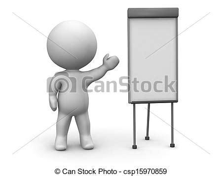 stock illustrations of 3d man whiteboard presentation 3d