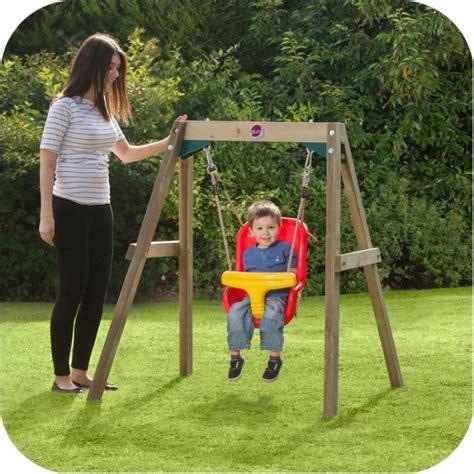 toddler wooden swing set plum wooden framed toddler kid s swing set buy baby kids
