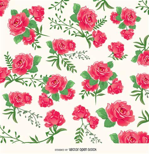 rose pattern background roses background pattern free vector