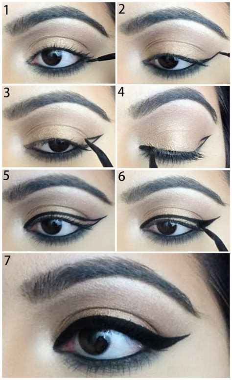tutorial on eyeliner application best tips to apply winged eyeliner for beginners how to