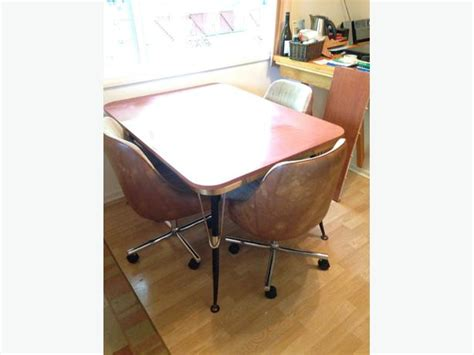 Chrome Kitchen Table And Chairs Retro Chrome Kitchen Table And Chairs Saanich