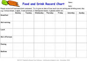 download food and drink record chart for free tidyform