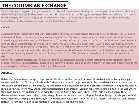Ap World History Columbian Exchange Essay by College Essays College Application Essays The Columbian Exchange Essay