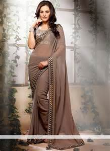 bold and beautiful plain and embroider sarees new ddesigns