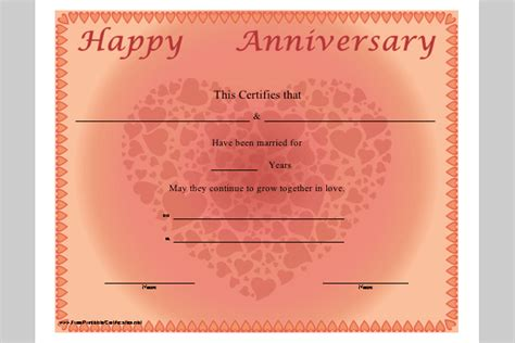 work anniversary template anniversary certificate template sle templates