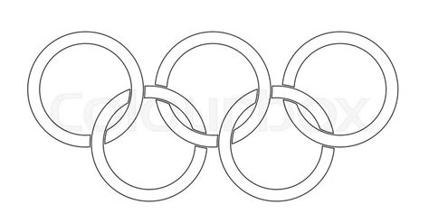 30170 Black White O Ring olympic style rings set a white backrounds stock