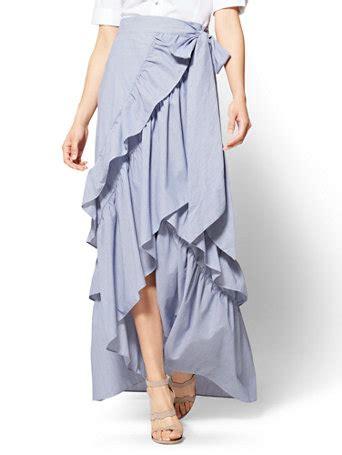 Ruffle Maxi Skirt ny c hi lo ruffle maxi skirt