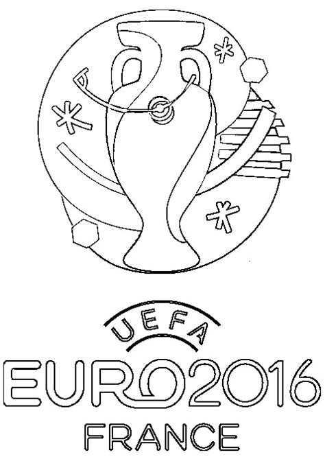 coloring pages euro coloring page uefa euro 2016 logo of euro 2016 in france 1
