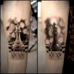 realistic king amp queen couples chess pieces best tattoo
