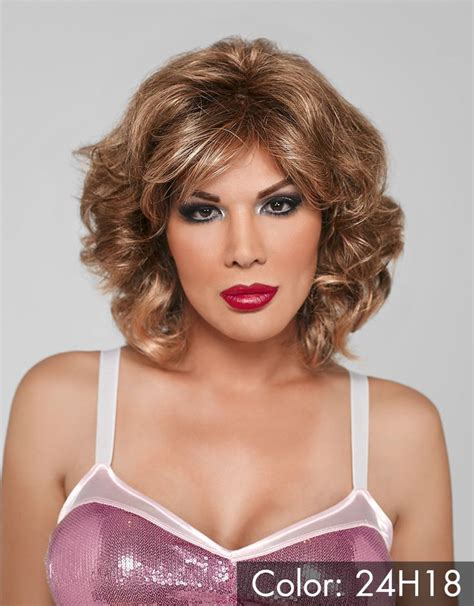 short hair styles for crossdressers wavy shoulder length wig realistic and passable