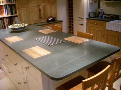 Arbeitsplatte Schiefer by Slate Worktop Island Saddleback Slate