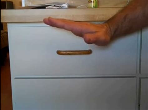 Repair Kitchen Drawer Front by Fix Uneven Drawer Front