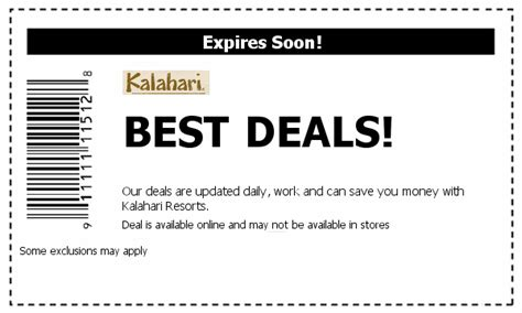 kalahari coupons 2017 2018 best cars reviews