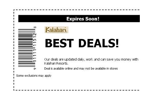 kalahari wisconsin dells coupon codes 2018