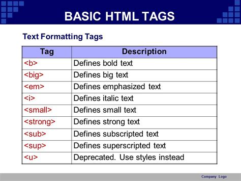 html format body text html basic ppt video online download
