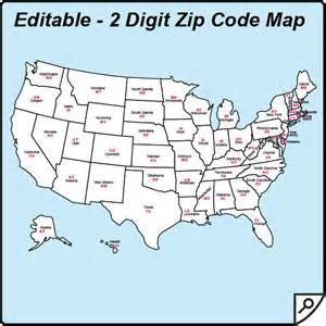 usa zip code and state maps editable maps of america