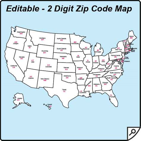 map of usa states zip codes usa zip code and state maps editable maps of america
