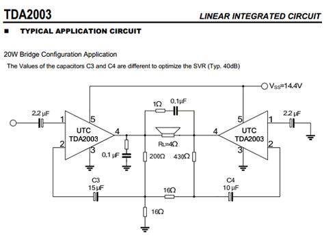 Ic Tda2003 Ic Tda 2003 Aj02 tda2003 datasheet pdf 10w car radio audio lifier