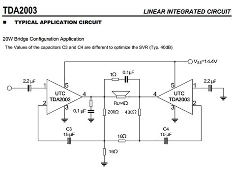 Ic Tda 2003 Ic St Audio Lifier tda2003 datasheet pdf 10w car radio audio lifier