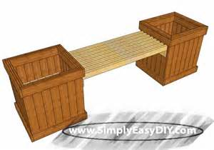 Planter Box With Bench Plans Simply Easy Diy Diy Planter Box Bench