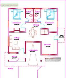 Floor House Plans by Single Floor House Plan 1000 Sq Ft Kerala House