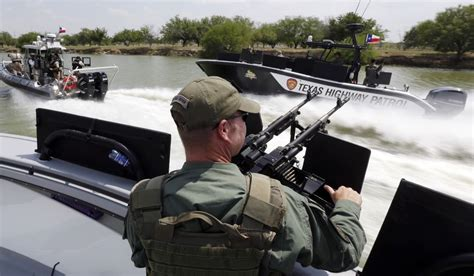 two man boats at academy texas department of safety troopers patrol on the rio