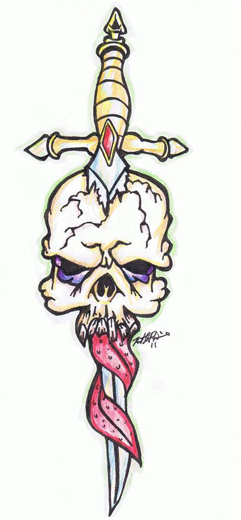 tattoo flash art skulls skull blade tattoo flash by marinewarrior on deviantart