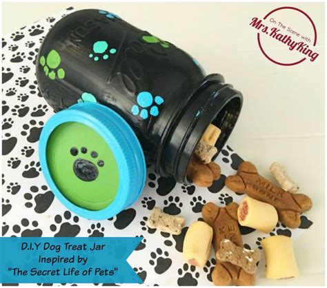 the secret life of pets craft dog house free printable the secret life of pets diy craft idea dog treat jar