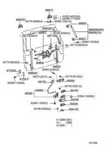 Toyota Parts Direct Back Door Lock Hinge For 2002 Toyota Sequoia Sr5 4700cc