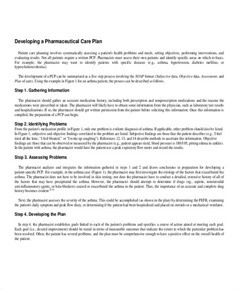 43 Sle Plans Sle Templates Pharmaceutical Care Plan Template