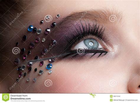 rhinestones eye makeup pictures to pin on pinterest