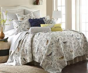 total fab bedding with birds on it