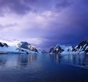Purple Lemaire Channel Antarctica 4K Uhd Widescreen