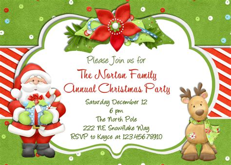 Printable Christmas Party Invitations ? gangcraft.net