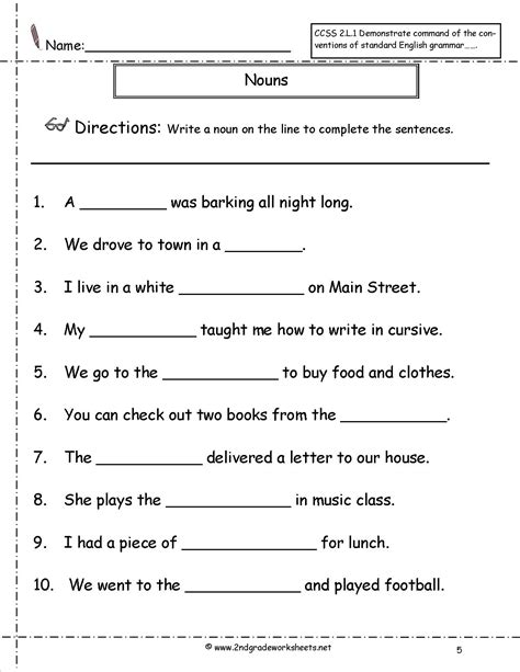 Noun And Verb Worksheets by Identifying Nouns And Verbs Worksheet Worksheets