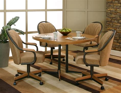 caster chairs dining set swivel dining room chairs with casters alliancemv