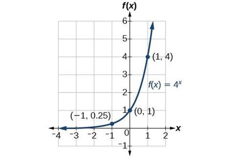 characteristics  graphs  exponential functions