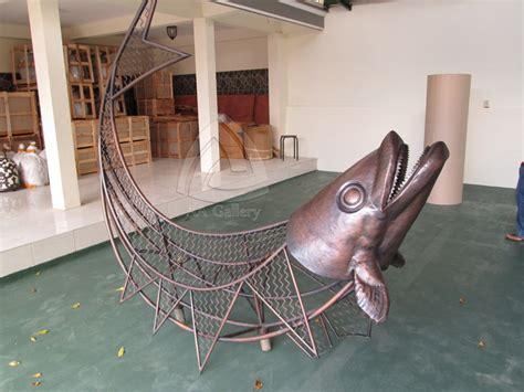 Patung Ikan Marlin Dan Layaran kerajinan patung sentra kerajinan tembaga dan kuningan