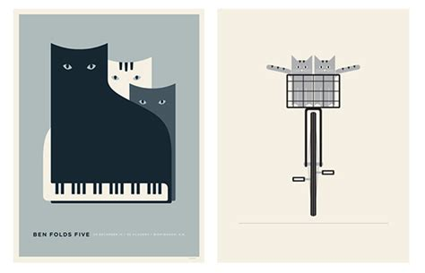 design poster buy jason munn poster designs featuring graphic cats hauspanther
