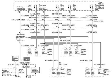 wiring diagram for rear parking sensors 39 wiring