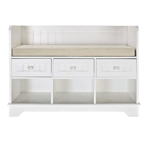 3 cubby storage bench cushioned storage bench with 3 cubbies and drawers