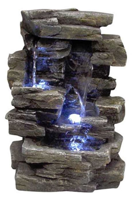 rock waterfall indoor fountain