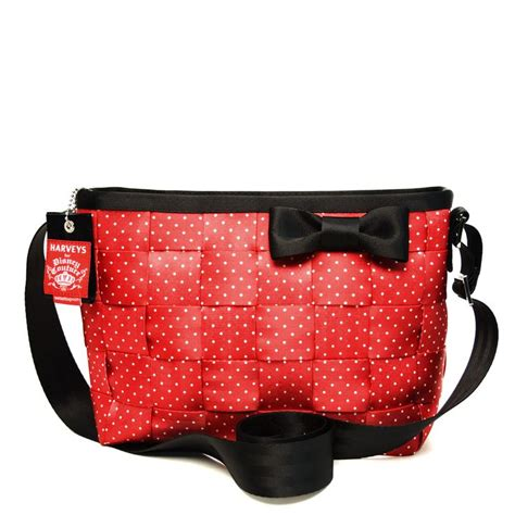 Kbs 53 Minnie Mouse Belt harveys for disney couture seatbelt convertible tote