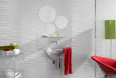 wavy bathroom tile white bathroom with wavy tile for the home pinterest