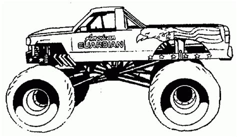 Mud Truck Coloring Page | chevy mud truck coloring pages images pictures becuo