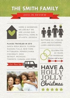 family year in review card template family newsletter template by schultz designs